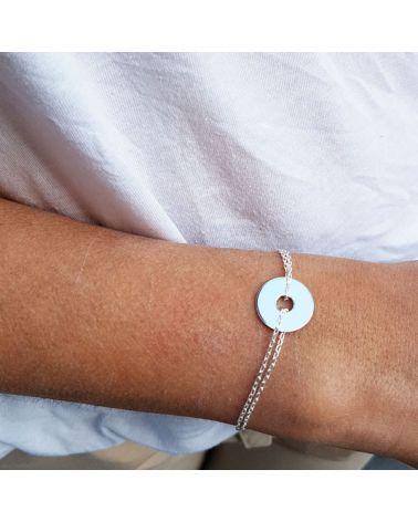 Bracelet double chaine et cible