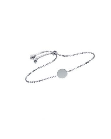 Bracelet argent 925 pastille lisse