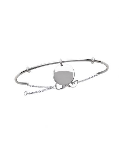 Bracelet jonc pastille et chainette