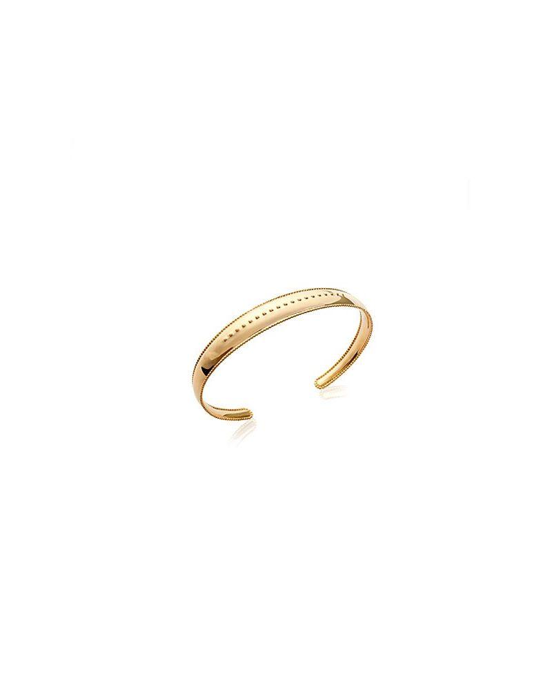 Bracelet jonc plaqué or motif poinçons