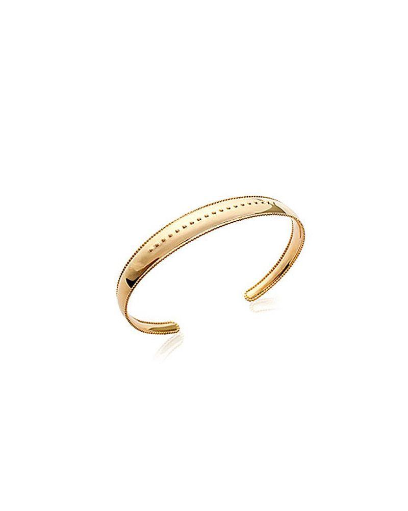 Bracelet jonc plaqué or perlé