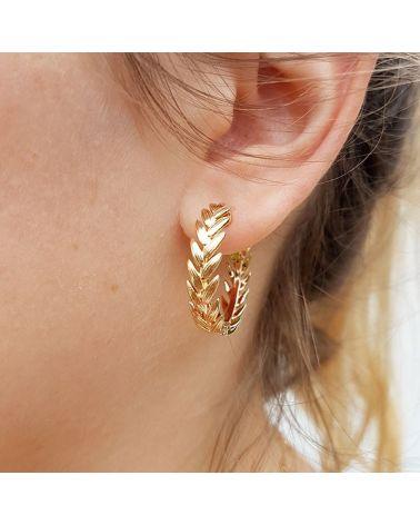 Boucles d'oreilles créoles laurier