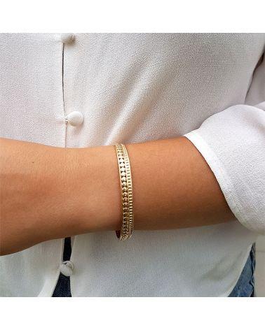 Bracelet jonc plaqué Or motif ronds