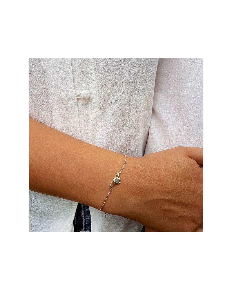 Bracelet chainette empierré aventurine