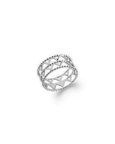 Bague anneau argent motif aztèque