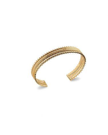 Bracelet jonc dentelle or