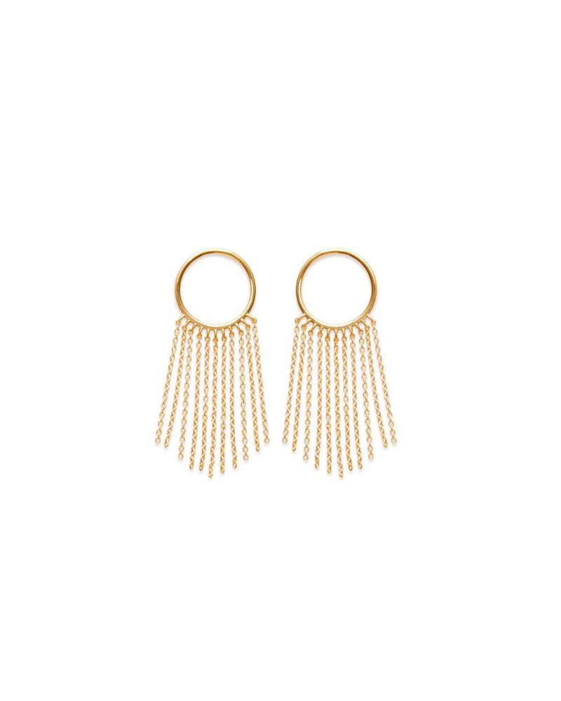 Boucles d'oreilles anneau chute de chaines
