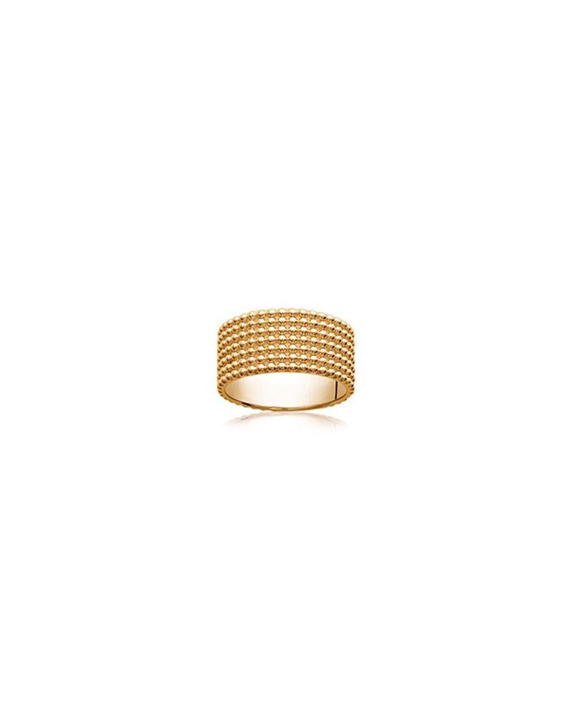 Bague anneau maille perlée