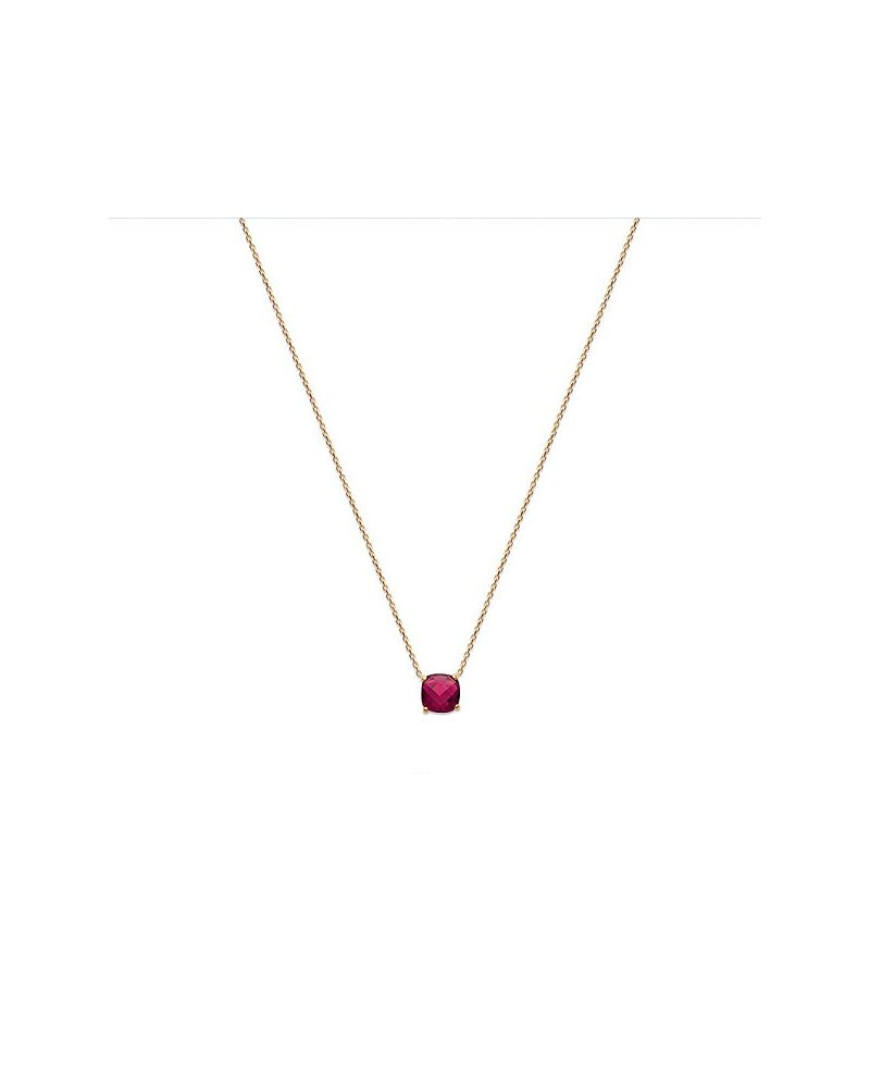 Collier ras de cou or pierre rouge rubis