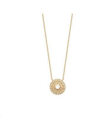 Collier plaqué or pendentif Pierre de lune
