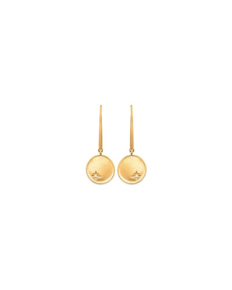 Boucles d'oreilles etoile zircon