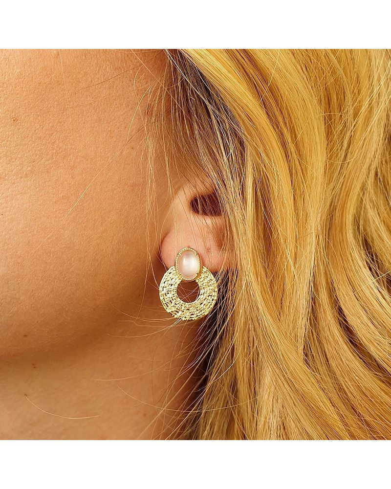 Boucles d'oreilles pierre de Lune