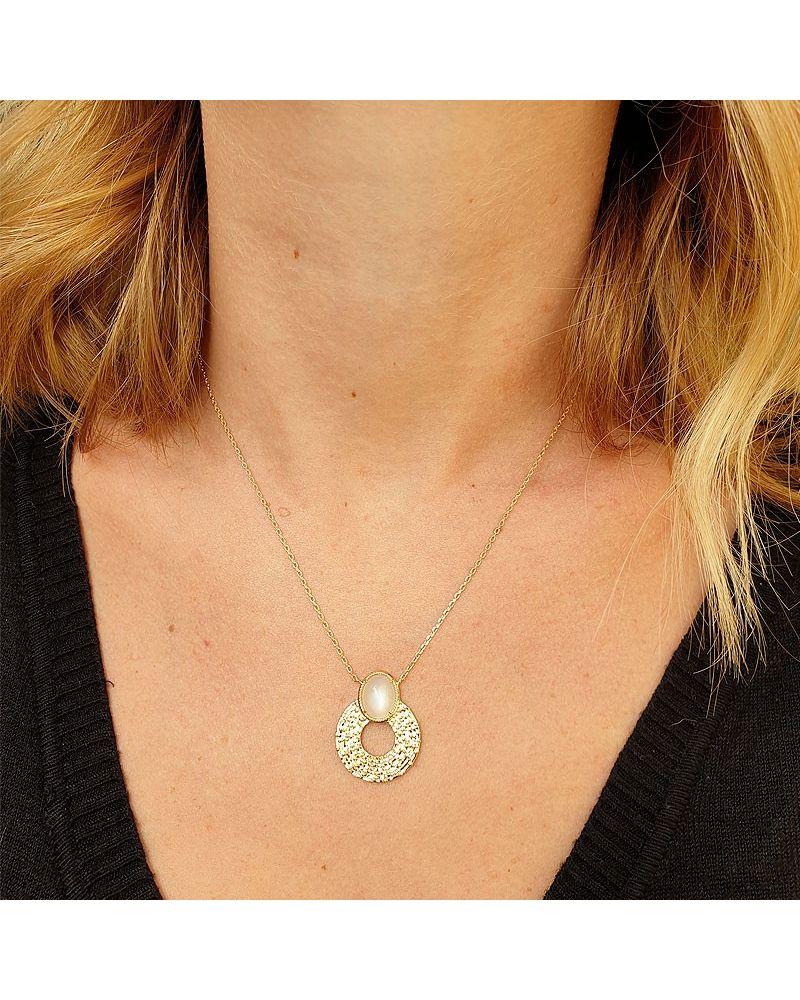 Collier pendentif pierre de lune