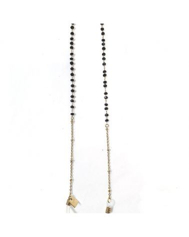 Chaine de lunettes Perles noires