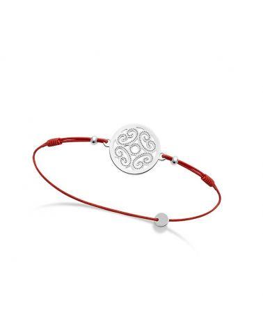 Bracelet médaille arabesque Argent