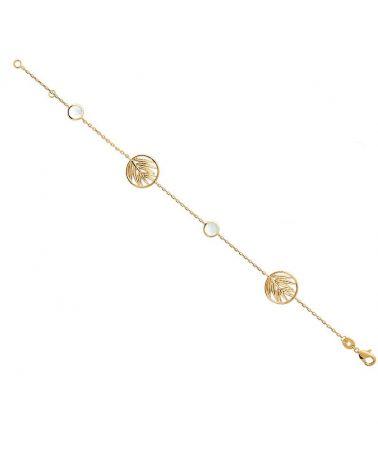 Bracelet chaine & nacre Mia