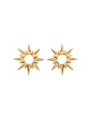 Boucles d'oreilles plaqué or étoile