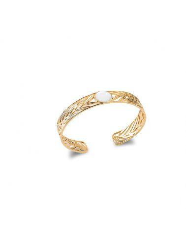 Bracelet jonc or & nacre