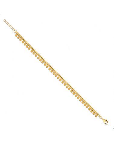 bracelet pampilles plaqué or