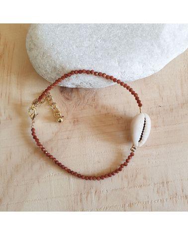 Bracelet pierre du soleil Cauris