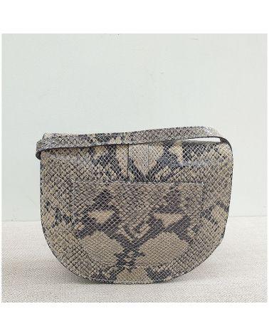 sac à bandoulière en cuir rigide serpent