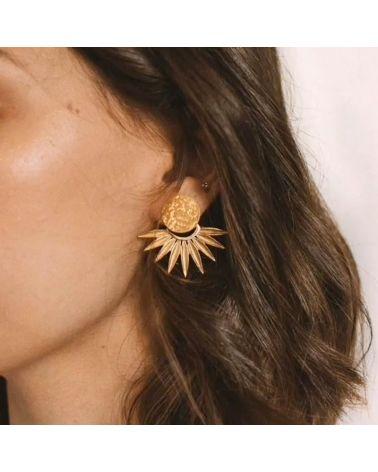 Boucles d'oreilles demi soleil