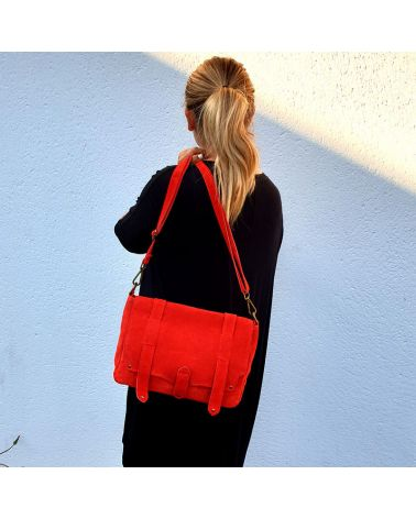 sac messenger rouge