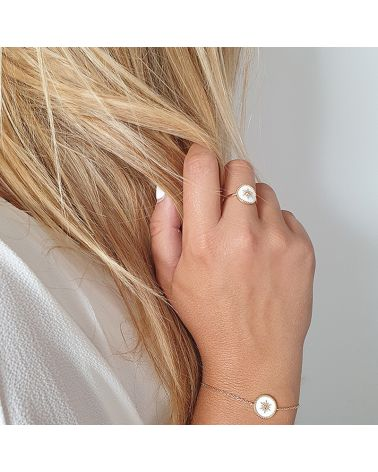bague or email blanc
