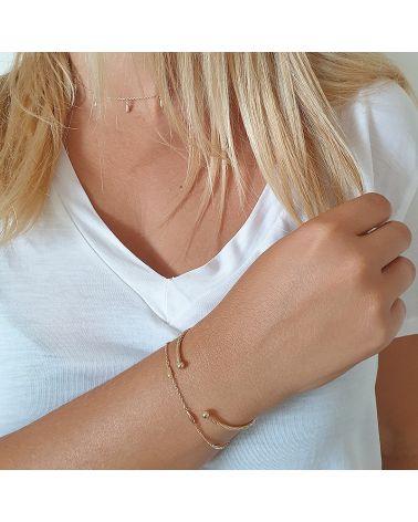 bracelet or gouttes