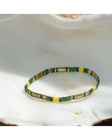 bracelet perles japonaises plates