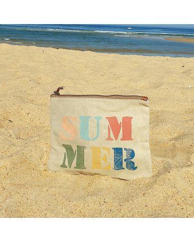 pochette plage toile Summer