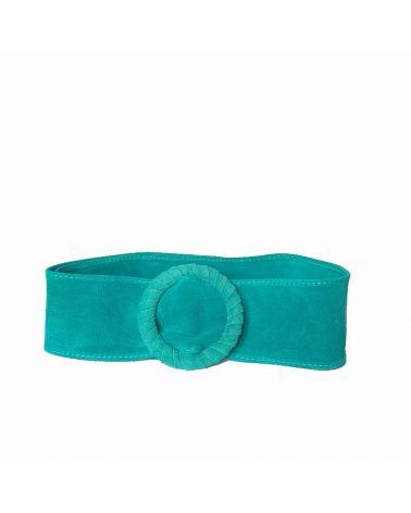 ceinture daim turquoise