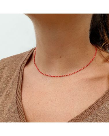 collier resine rouge