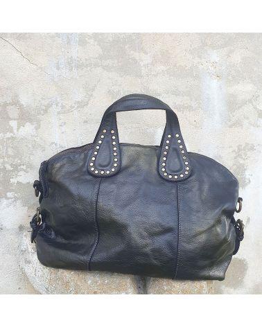 sac à main cuir vintage noir