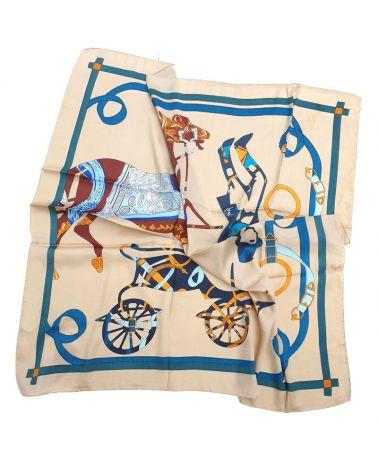 foulard carré scene equestre
