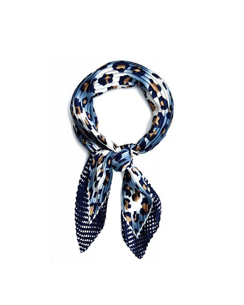 foulard plissé léopard et pois
