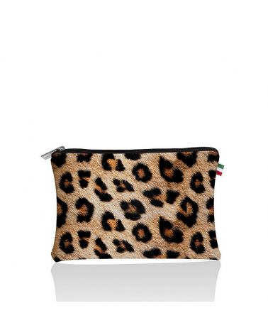 Pochette plate léopard