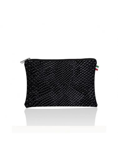 pochette plate python save my bag