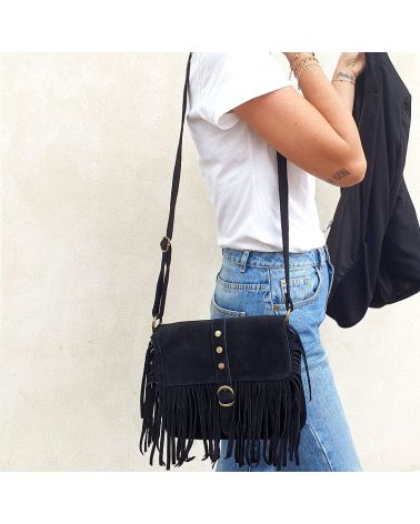 sac franges noir it hippie