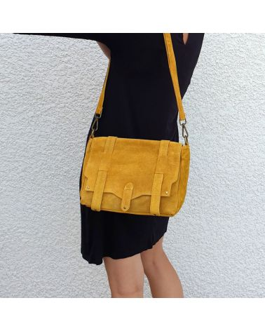 sac messenger moutarde