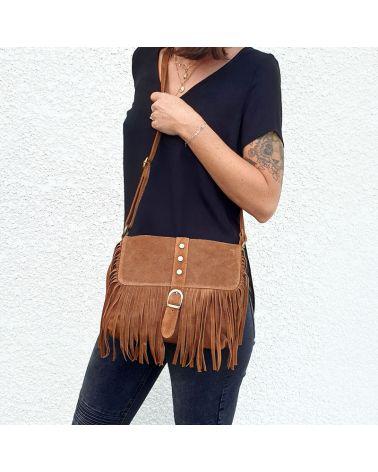 sac à franges camel it hippie