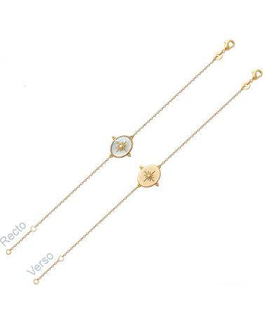 bracelet or médaille réversible