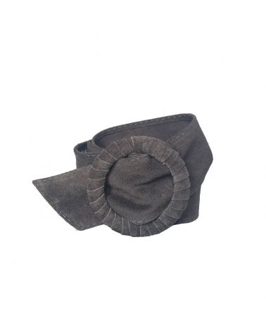 ceinture daim gris