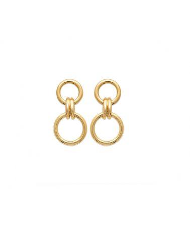 boucles d'oreilles double anneau