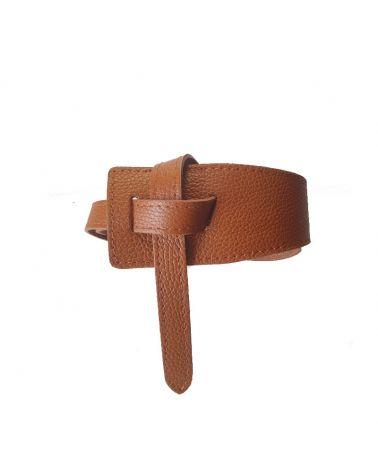 ceinture cuir camel