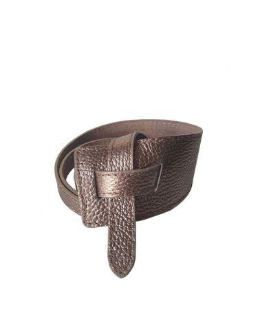 ceinture cuir asymetrique bronze