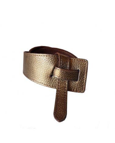ceinture cuir asymétrique