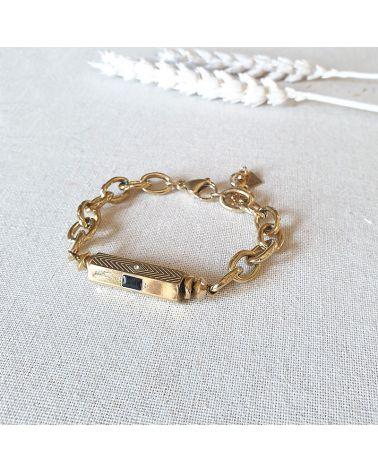 bracelet cylindre onyx