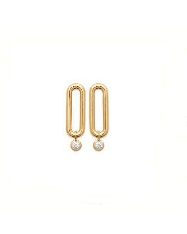boucles d'oreilles anneau zirconium