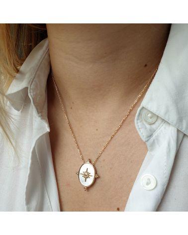collier pendentif nacre